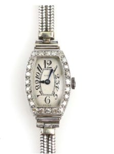 Art Deco Diamond Cocktail Platinum Watch, Benson