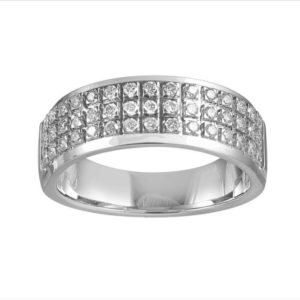 Pave Diamond Half Eternity Wedding Ring, 0.45ct, 18ct White Gold