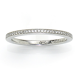 Platinum Diamond Millegrain Set Eternity Ring