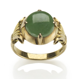 Vintage Jadeite Jade 18ct Gold Ring