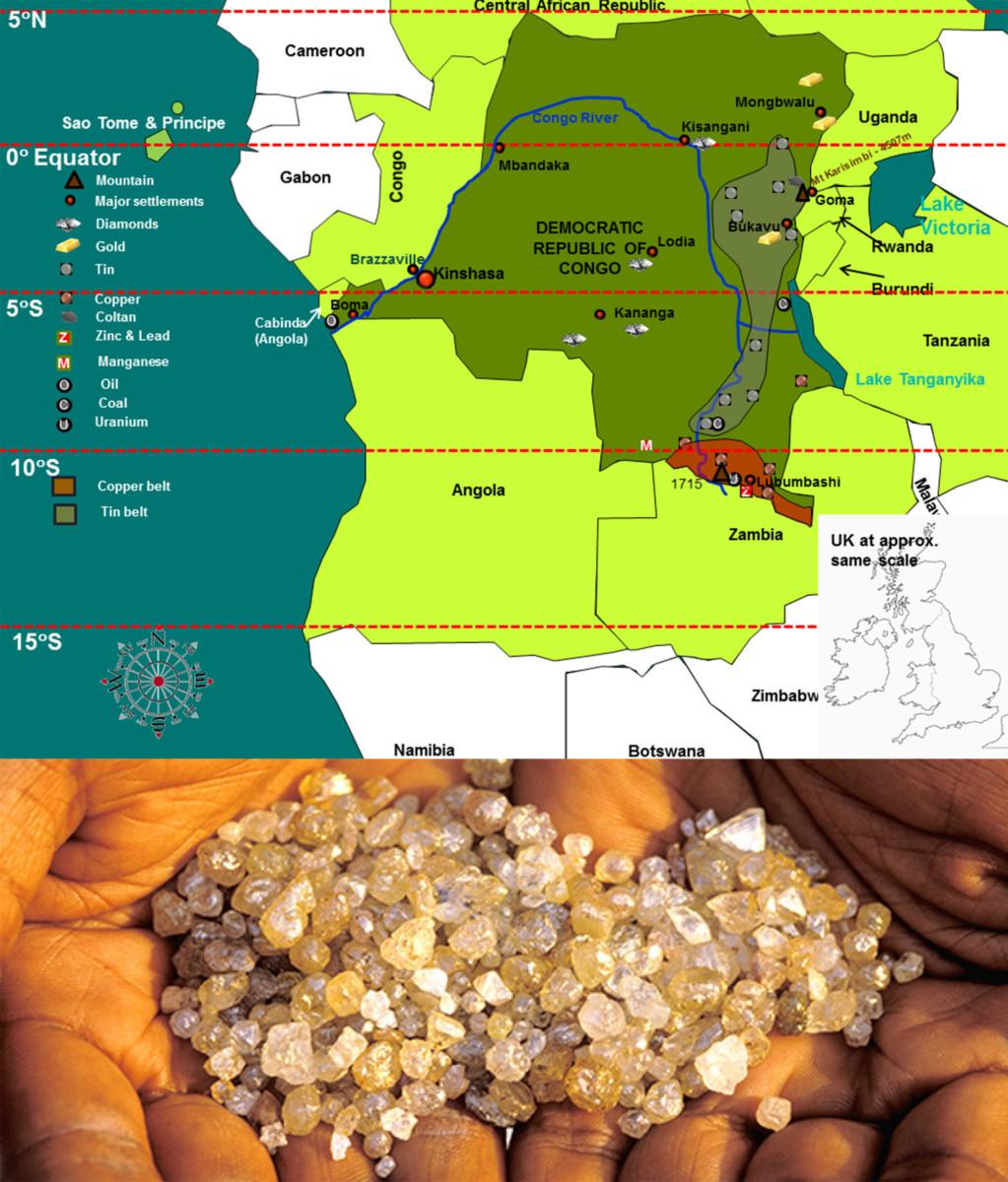 Congo Diamond Mining Map