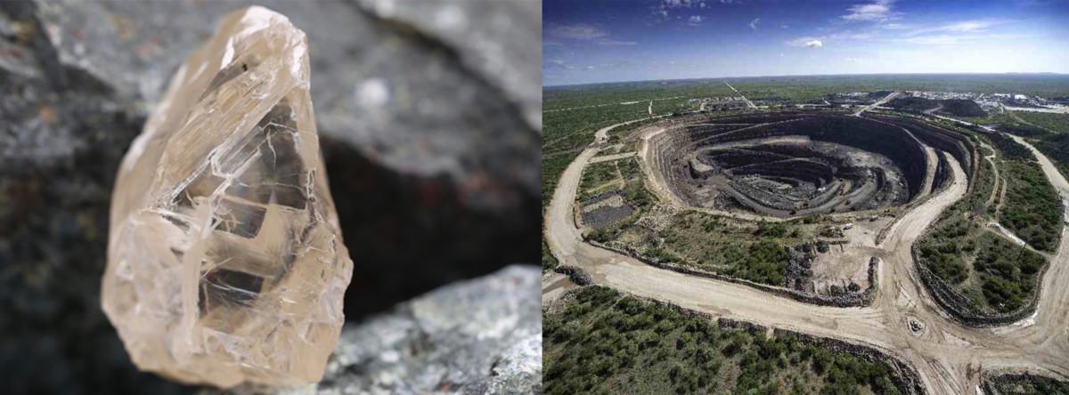 Karowe mine and diamond