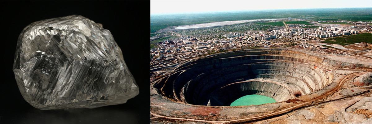 Mir Diamond Mine and Russian Diamond
