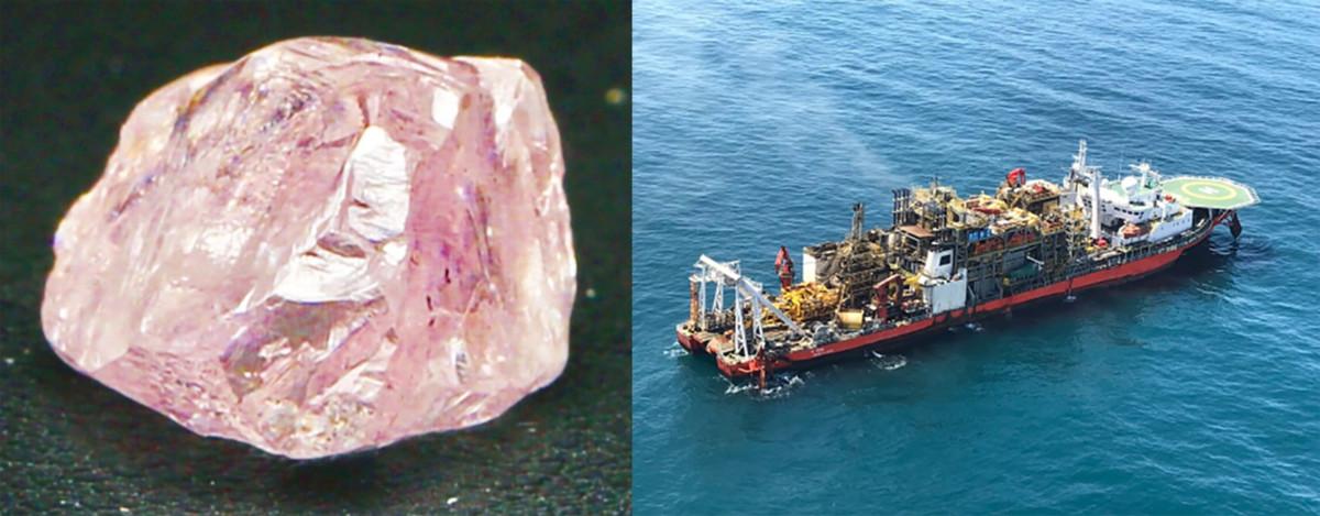 Namibian Diamond and Mining Ship