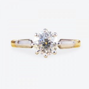 Antique Edwardian 0.53ct Old-Cut Diamond Solitaire Engagement Ring