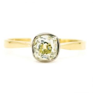 Vintage Old-Cut 0.80ct Diamond Solitaire Engagement Ring, 18ct Gold