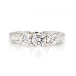 Diamond 1.20ct Three-Stone Ring in Platinum