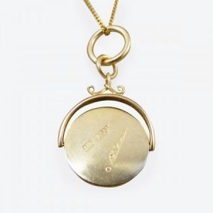 Antique Edwardian Masonic 18ct Yellow Gold Spinner Pendant