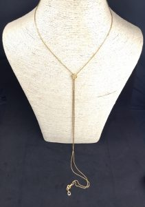 "Antique Georgian Long ""Bootlace"" Box Link Necklace, High Carat Gold"