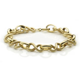 Fancy Link 18ct Yellow Gold bracelet