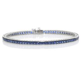 Sapphire 8.10cts Line Bracelet