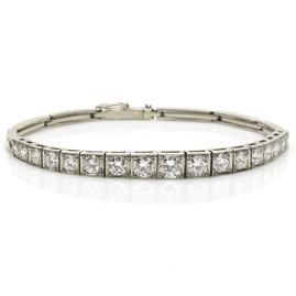 Vintage 2.40cts Diamond Line Bracelet