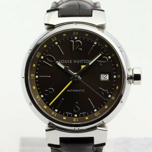 Louis Vuitton Tambour GMT Automatic 39mm Q1131 Steel Watch
