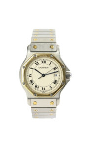 Cartier Santos de Cartier Stainless Steel and Gold Bracelet Watch, 29mm