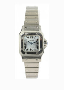 Ladies Cartier Santos Galbee 24mm Stainless Steel Wrist Watch