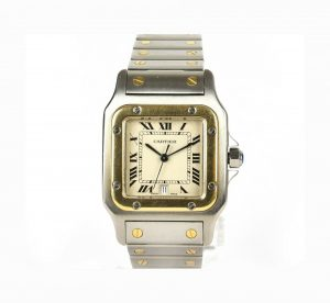 Cartier Santos Galbee 18ct Gold and Steel 29mm Quartz Watch