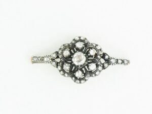 Antique Victorian Rose Cut Diamond Brooch, Circa 1900