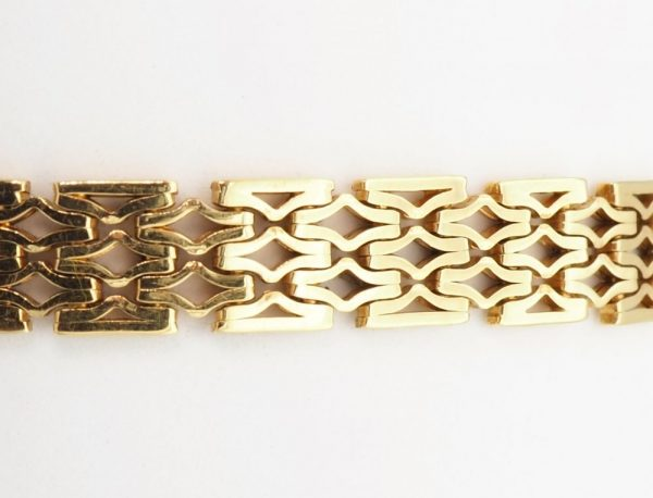 Vintage 1970s Yellow Gold Bracelet