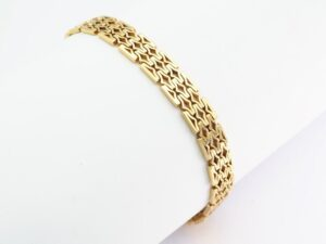 Vintage 1970s Yellow Gold Bracelet