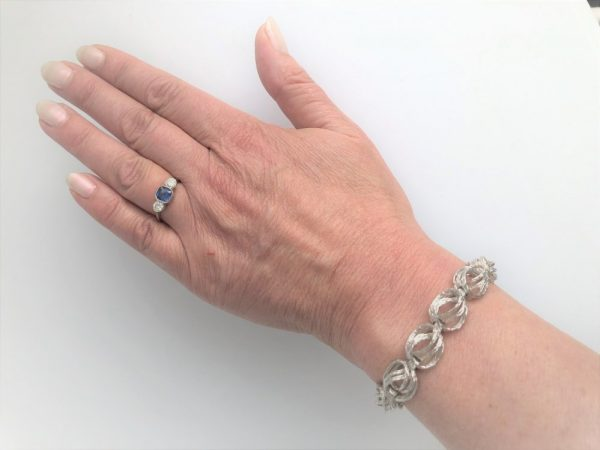 Round Fantasy Link White Gold Bracelet