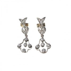 Antique Edwardian Diamond Drop Earrings