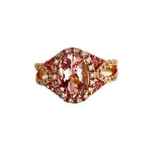 1.42ct Morganite Dress Ring, 18ct Gold