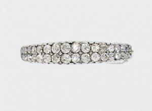 Early 20th Century 11.00ct Old Cut Diamond Bangle / Mini Tiara