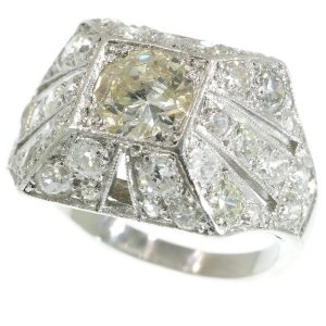 Sparkling Vintage Art Deco 3.78ct Diamond Cocktail Engagement Ring