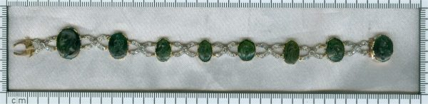 Antique 18th Century Diamond Bracelet with 2000 year old Chalcedony Intaglios