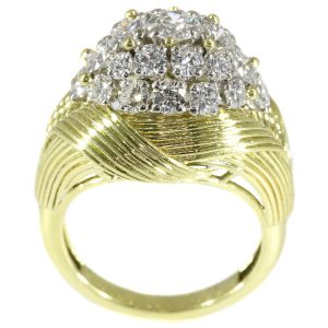 Vintage Mauboussin Fifties Diamond Cluster Ring