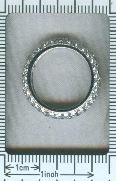 Vintage 5.10ct Brilliant Cut Diamond Eternity Ring