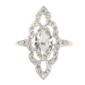 Antique Art Nouveau Diamond Engagement Ring