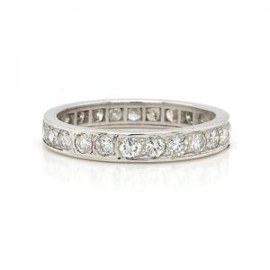 1.30ct Diamond Full Eternity Ring Band in Platinum