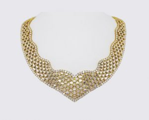 Exceptional Diamond and 18ct Gold Collar Necklace, 52.93 carat total