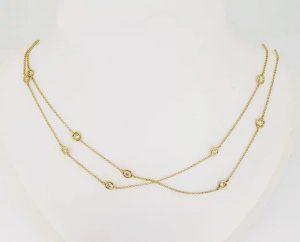 18ct Yellow Gold Diamond Set Chain, 2.76 carats