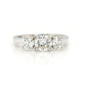 Diamond Three Stone Ring in Platinum, 1.48cts, GIA Certified