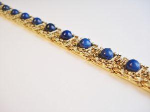 Vintage Lapis Lazuli Gold Bracelet