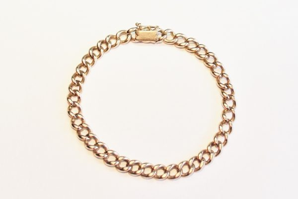 Antique Gold Link Bracelet
