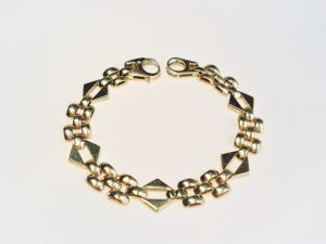 Vintage Eighties Fancy Link Gold Bracelet