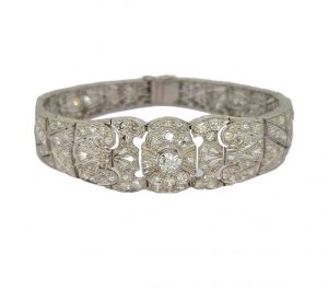 Art Deco Diamond Panel Bracelet, 1930's