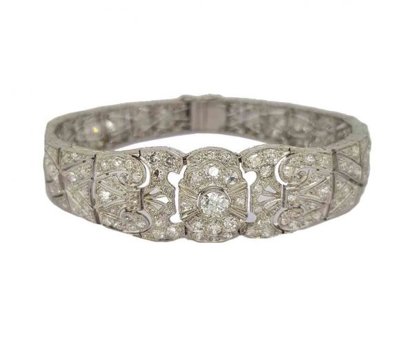 Art Deco diamond bracelet Platinum