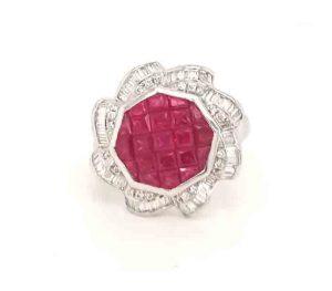 Ruby and Diamond Dress Ring, 1.40 carats