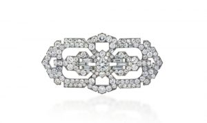 Vintage Cartier Exclusive Platinum Brooch with Diamonds