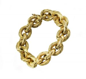 Vintage 18ct Yellow Gold Bracelet by Damas