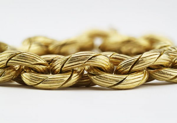 Vintage 18ct Yellow Gold Bracelet by Damas