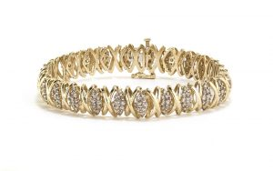 4.1ct Diamond Set Bracelet in 14ct Gold