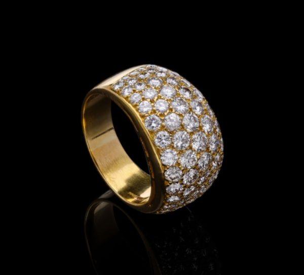 Vintage Bvlgari Bombé Diamond Ring