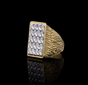 Vintage Kutchinsky Diamond 18ct Gold Ring