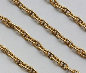 Vintage Hermes 18ct Gold Long Chaine D'Ancre Chain, Circa 1970