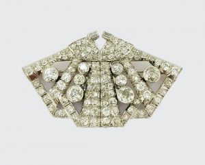6.50ct Diamond Double Clip Butterfly Brooch in Platinum